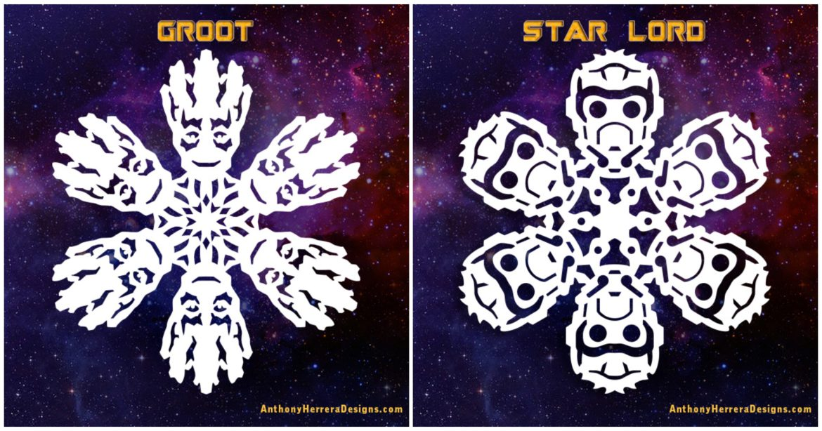 Make your own Guardians of the Galaxy Paper Snowflakes