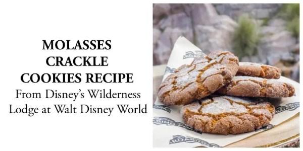 Molasses crackle cookies recipe