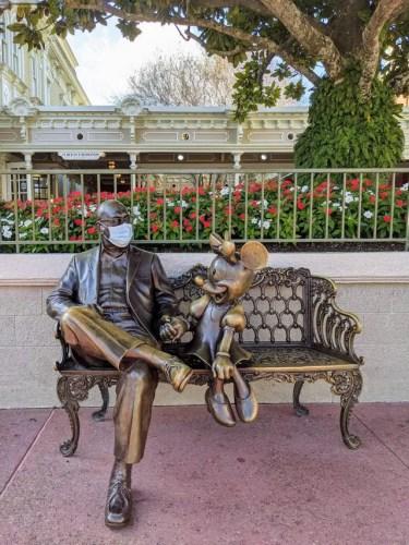 Someone Gave Mr Roy Disney a Face Mask! 1
