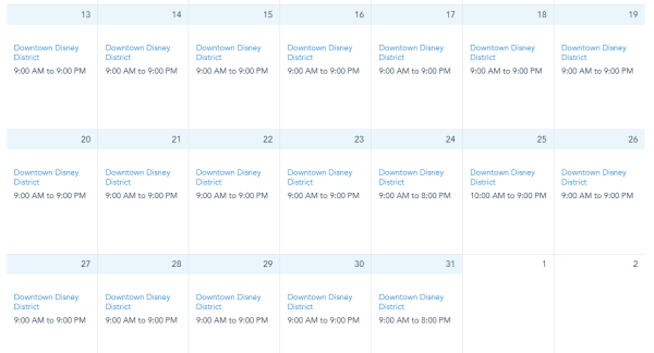 Downtown Disney extending hours for the Holidays 3