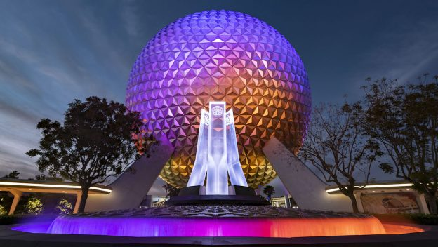 First Look at Epcot's All New Main Entrance Fountain