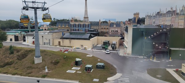 Birds eye view of the France Pavilion Construction 5