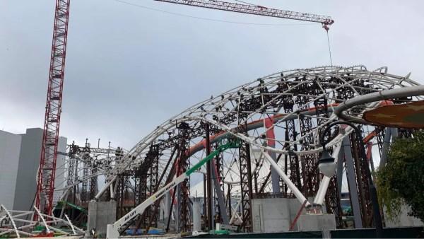 Tron Coaster Construction