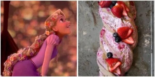 Rapunzel braided bread