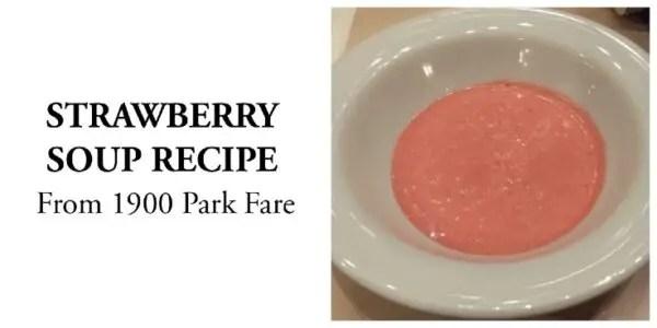 strawberry soup 1900 park fare