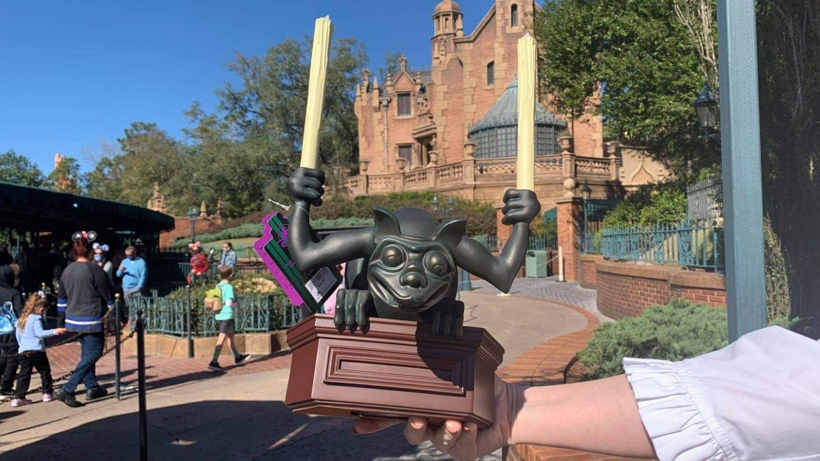 Pick up this SPOOKY Haunted Mansion Gargoyle Statue at the Magic Kingdom