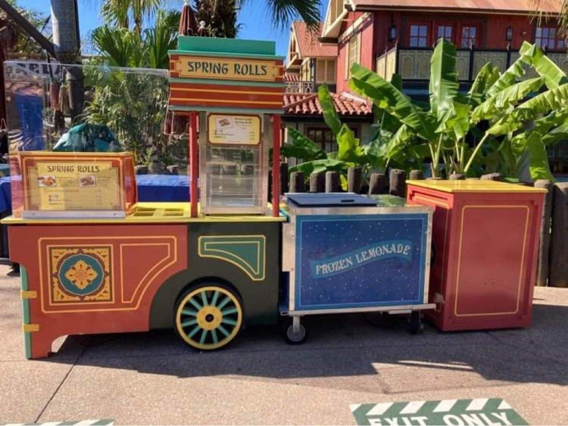 Spring Rolls Cart In The Magic Kingdom Now Offers 1 Of Each Option