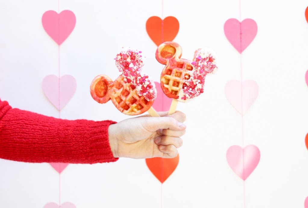 Mickey Waffle Pops Are The Perfect Valentine's Day Treat!