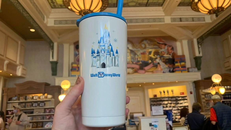 New Cinderella Castle Starbucks Tumbler Available At Magic Kingdom