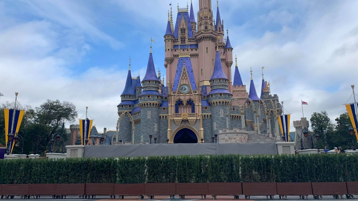 Cinderella Castle stage blocked off for possible refurbishment