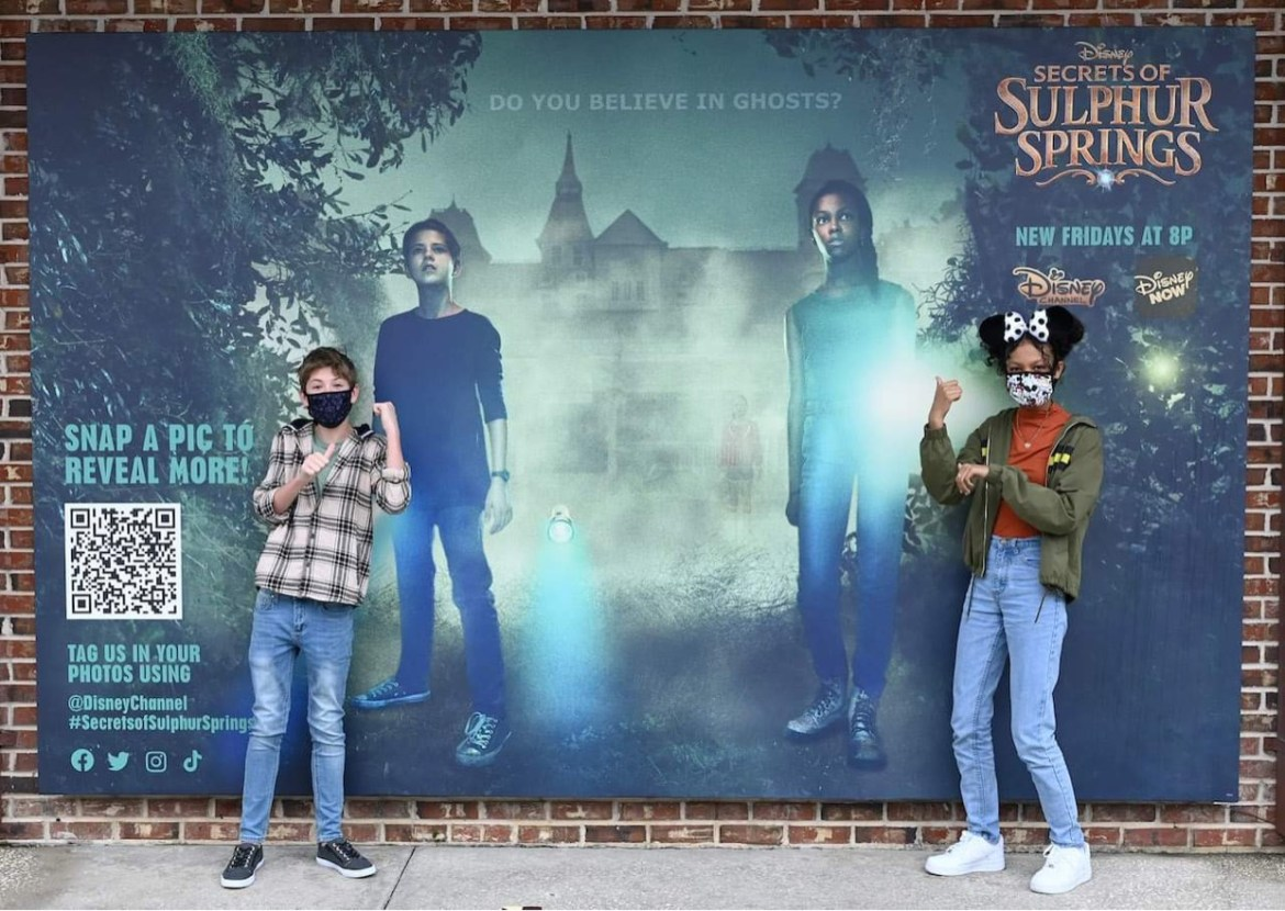 Secrets of Sulphur Springs photo op now at Disney Springs