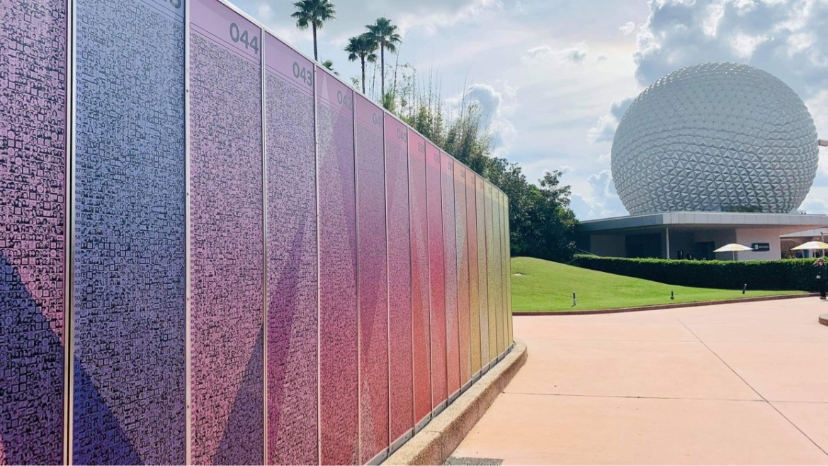 Closer look at the Leave a Legacy displays in Epcot