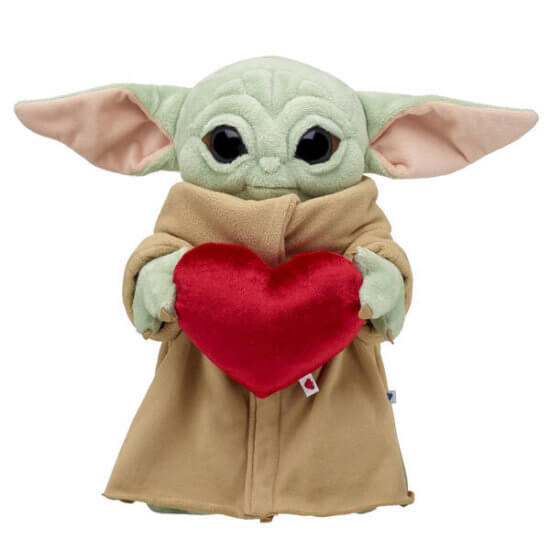 Cuddle with your own Baby Yoda Valentine's Day Bundle from Build a Bear!