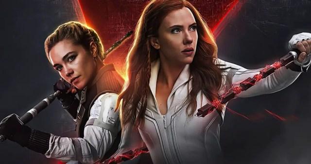 Florence Pugh as Yelena Boleva and Scarlett Johansson as Natasha Romanoff in Black Widow