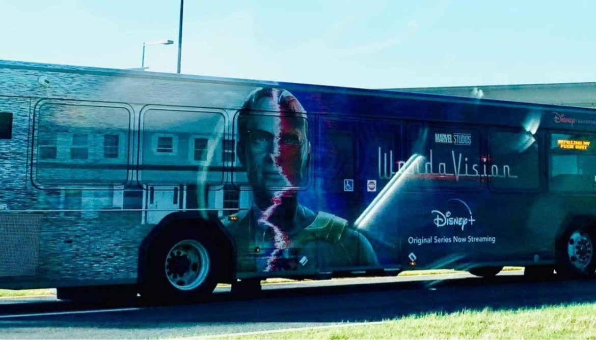 New WandaVision bus spotted at Walt Disney World