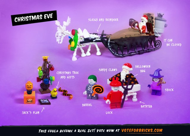 Support This Nightmare Before Christmas LEGO Project 3