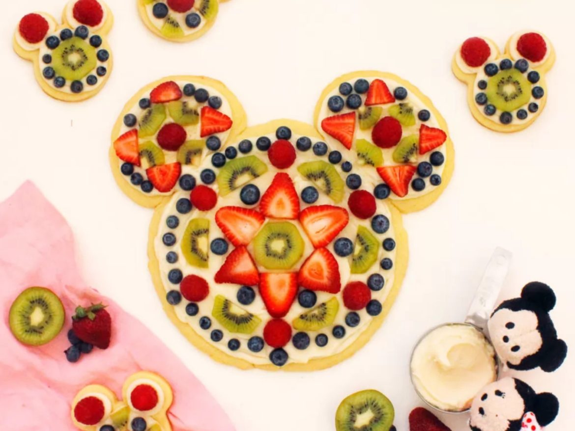 Learn How To Make A Mickey Shaped Dessert Pizza At Home!