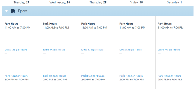 Disney World releases operating hours through May 1st, 2021 3