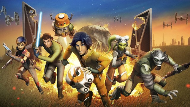 The animated cast of Star Wars Rebels