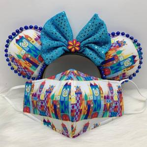 It's a small world Minnie Ears & Face Mask
