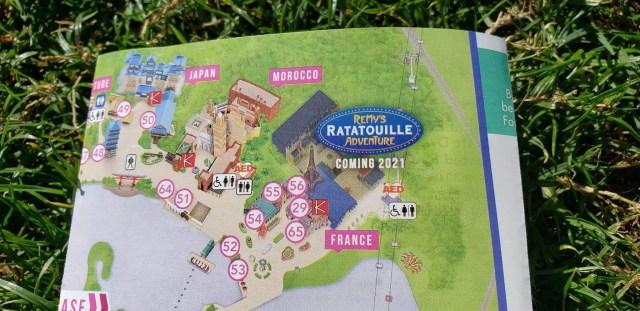 Epcot Flower & Garden Festival Map