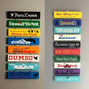 Disney Attraction Signs