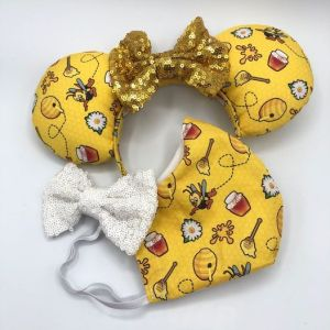 Spike the Bee face mask and Minnie ears set!