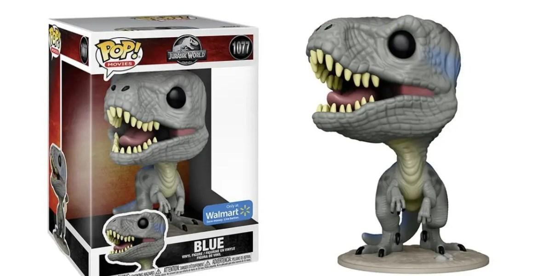 """VelociCoaster Fans get this Exclusive Jurassic World 2 """"Blue"""" Velociraptor Funko Pop"""