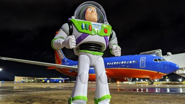 Missing Buzz Lightyear goes on a mission before returning home thanks to Southwest Airlines
