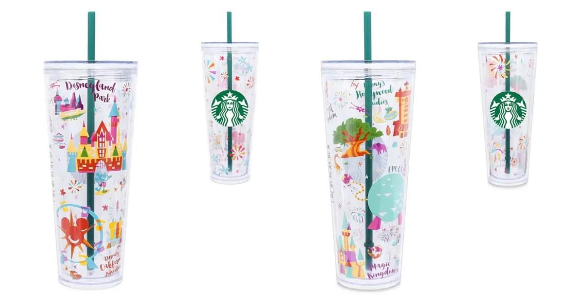 New Disney Parks Starbucks Tumblers For Disneyland and Walt Disney World