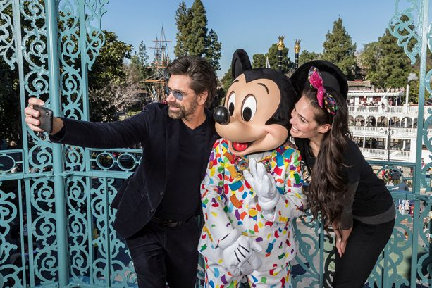 John Stamos and Mickey Mouse