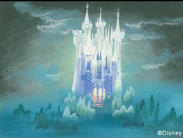 New Mary Blair-Inspired 50th Anniversary Cinderella Castle Art 4
