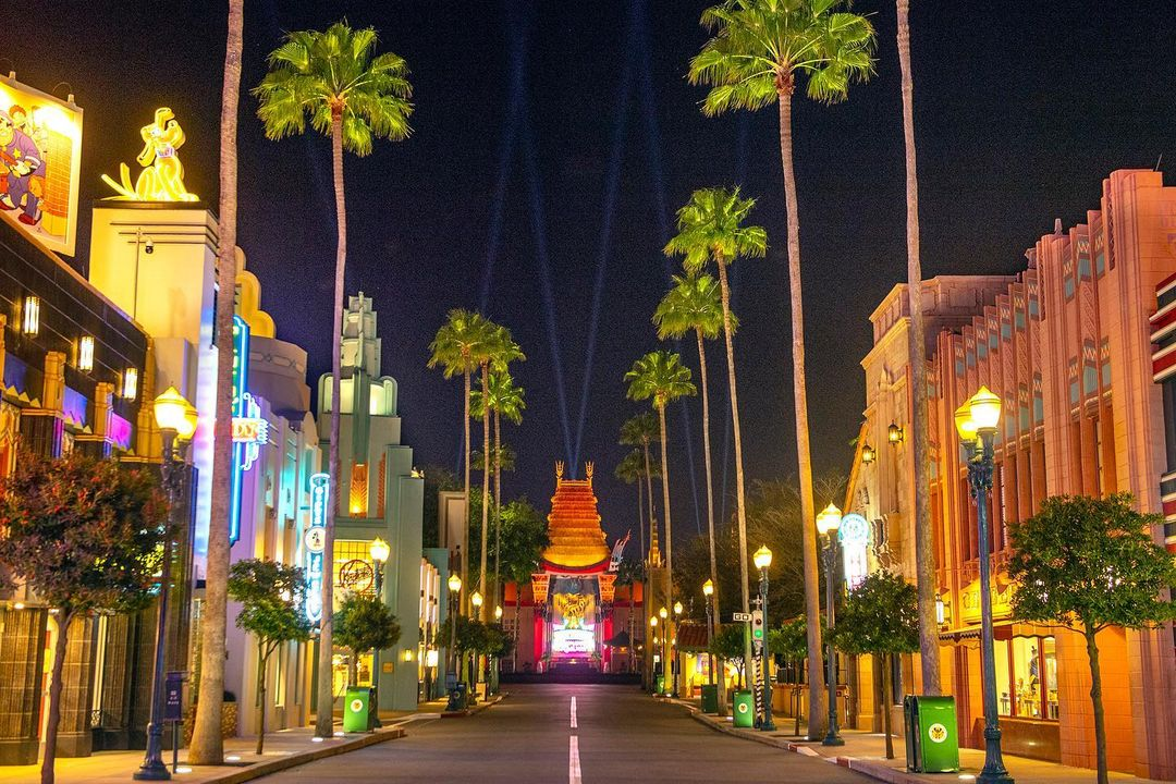 Behind the scenes look at the lighting for the Chinese Theatre in Hollywood Studios