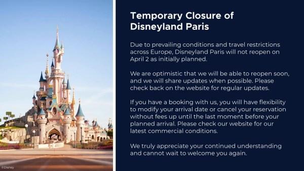 Disneyland Paris announcement