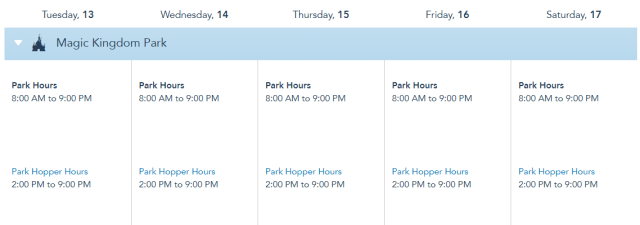Theme Park Hours for Disney World have been extended in April! 2