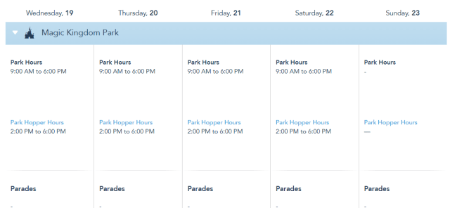 Disney World Park Hours extended through May 22nd 2