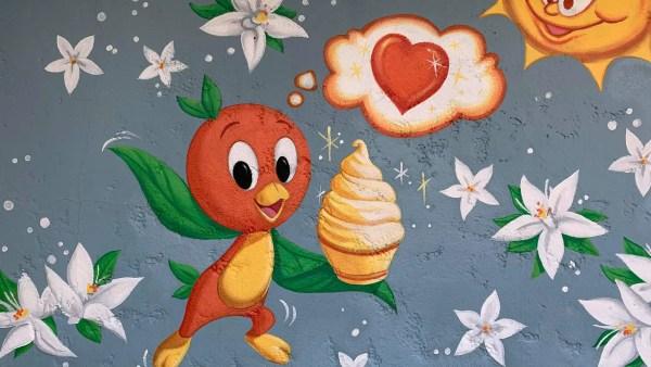 Orange Bird Mural
