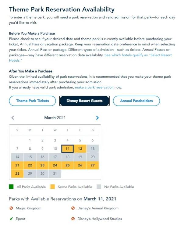 Disney World opens up reservations for Spring Break 3
