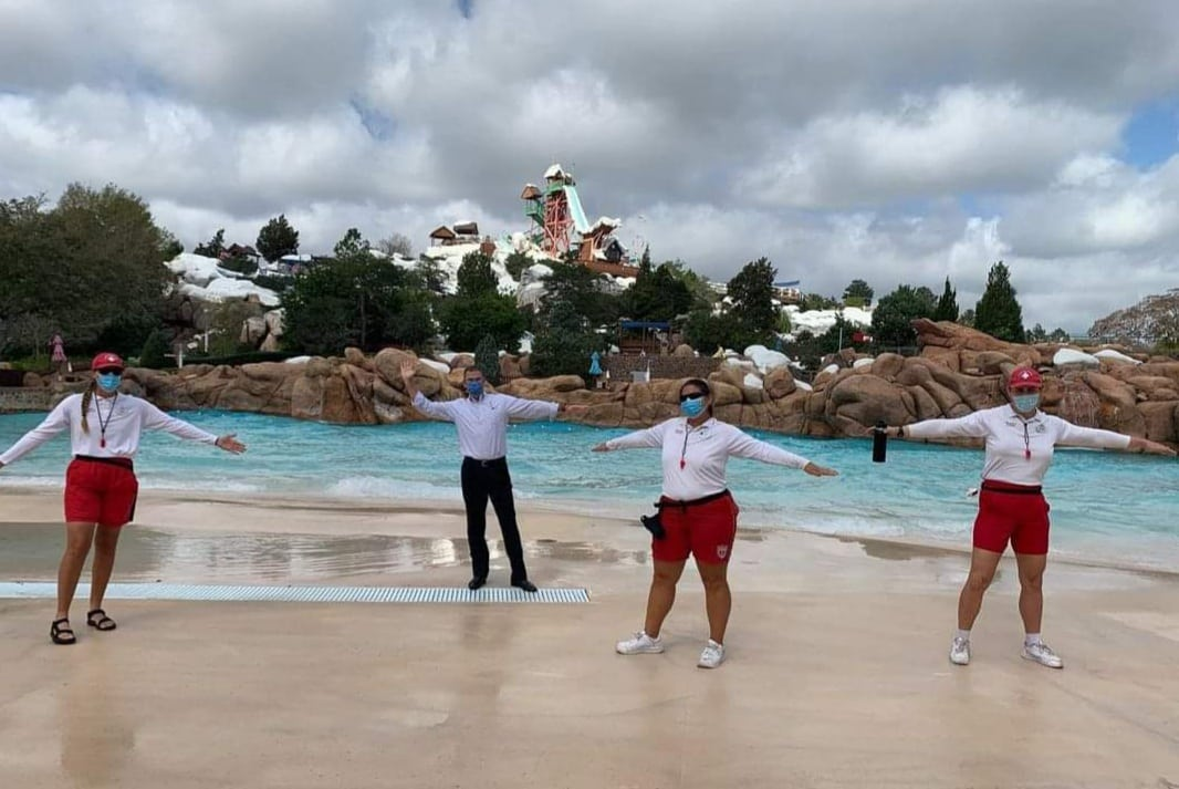 Disney World President Jeff Vahle Welcomes Back Blizzard Beach Cast Members