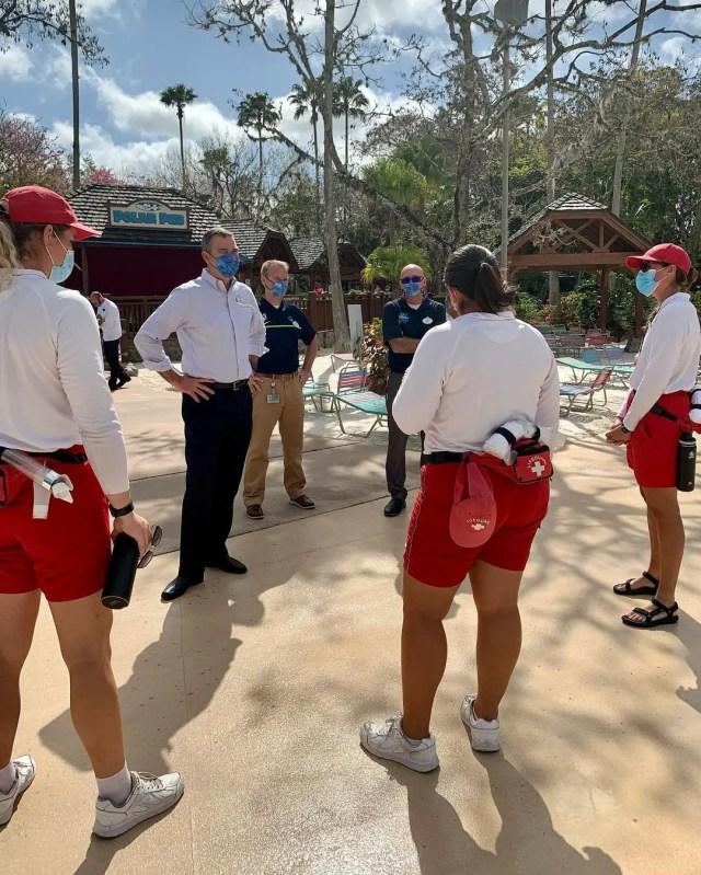 Disney World President Jeff Vahle Welcomes Back Blizzard Beach Cast Members 1