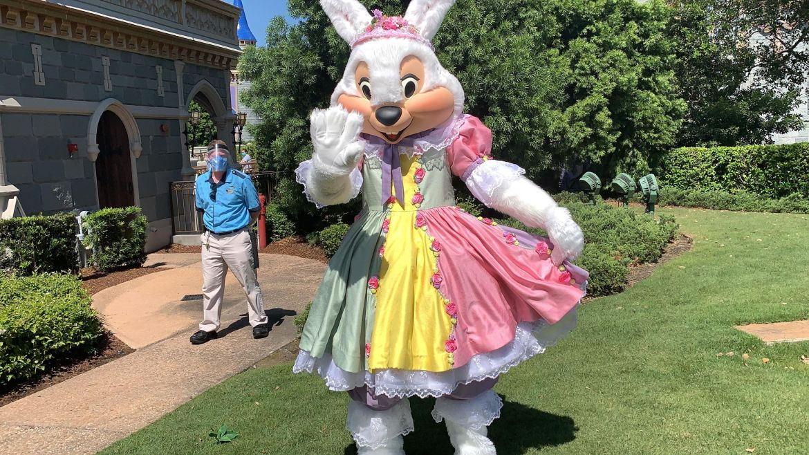Mr & Mrs. Bunny are out hiding Easter Eggs in the Magic Kingdom