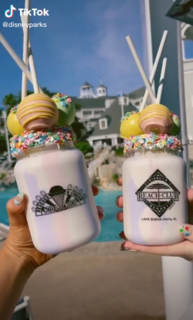 Wildberry Cake Pop Shake now available at Beaches & Cream 3