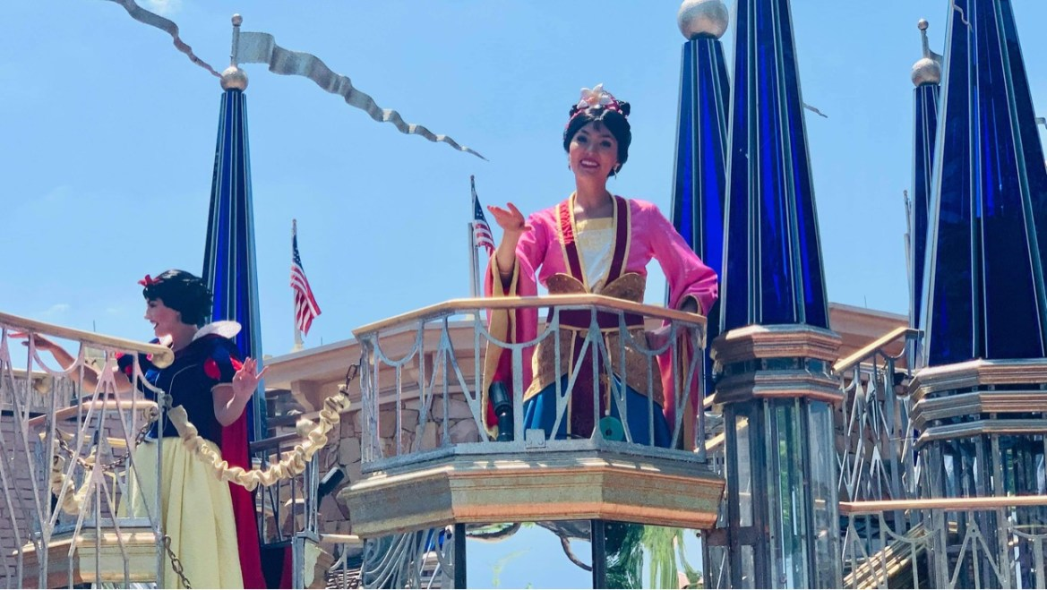 Mulan is now greeting guests at the Magic Kingdom!