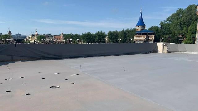 Cinderella Castle Stage resurfacing