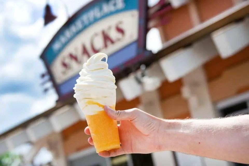 New Vanilla Orange Slushy Float Now Available At Disney Springs!