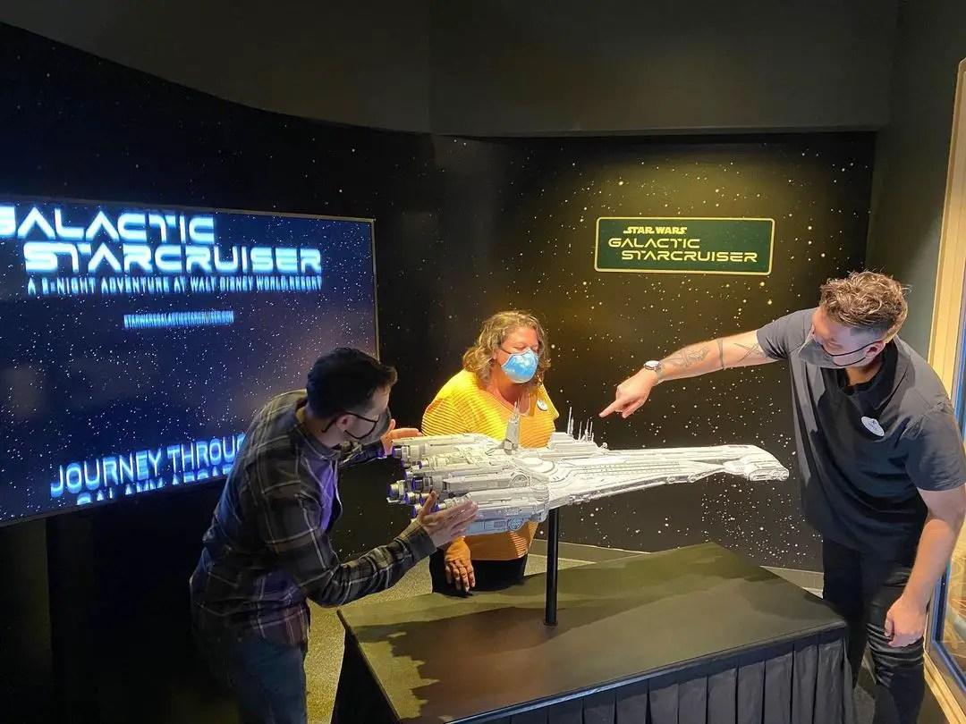 Star Wars: Galactic Starcruiser Halcyon ship on display in Hollywood Studios