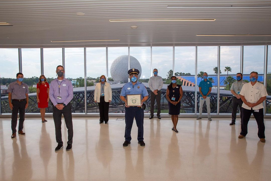Epcot Cast Member Honored with an award for saving 4-Year-Old Child