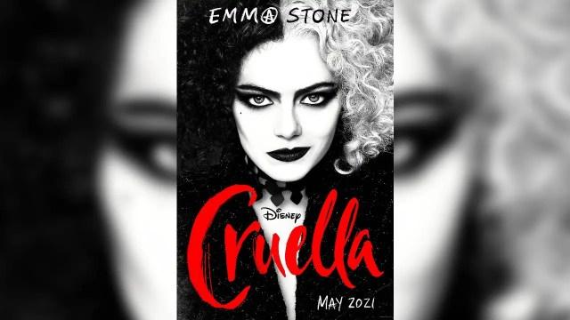 Cruella Movie Poster with Emma Stone as Cruella