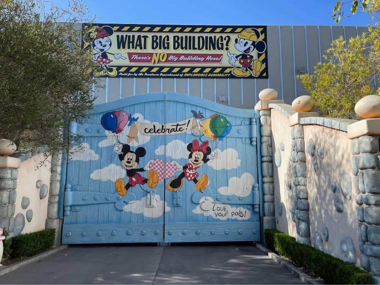 Construction update for Mickey & Minnie Runaway Railway in Disneyland