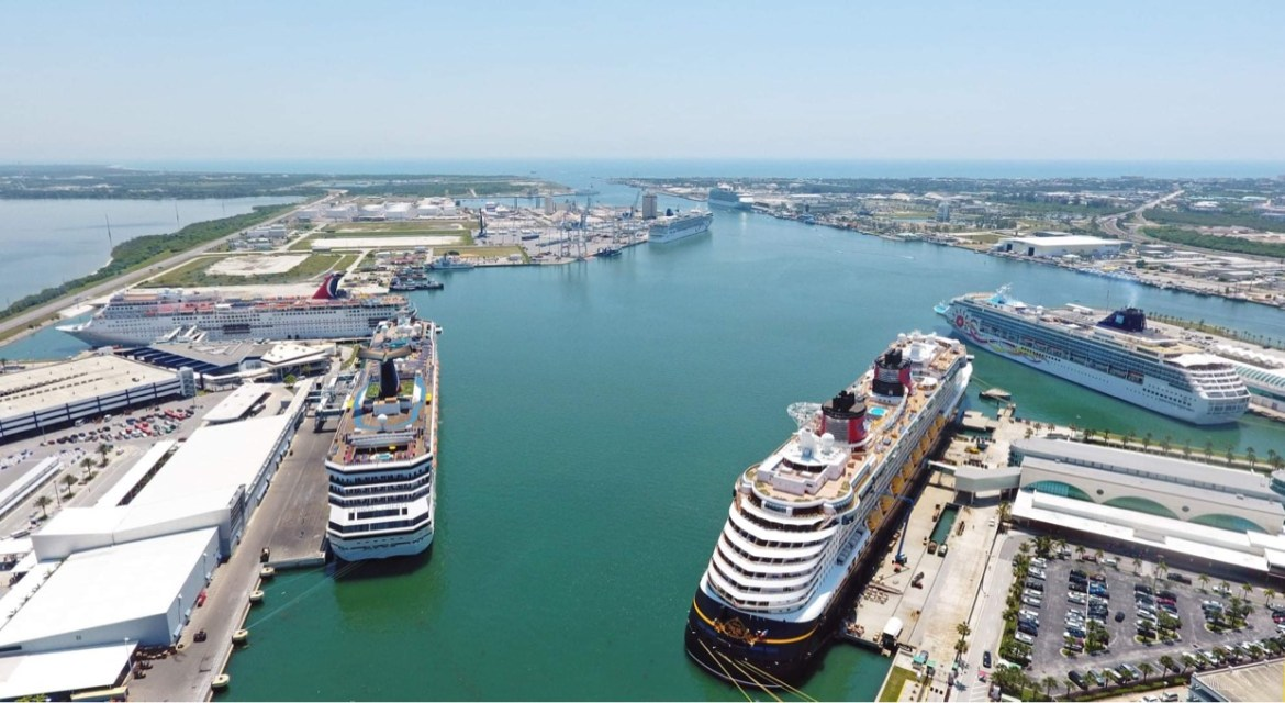 Port Canaveral is the first U.S. port to begin distributing vaccines for workers